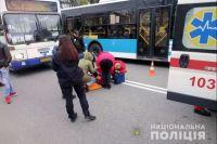 В Хмельницком автобус наехал на двух детей