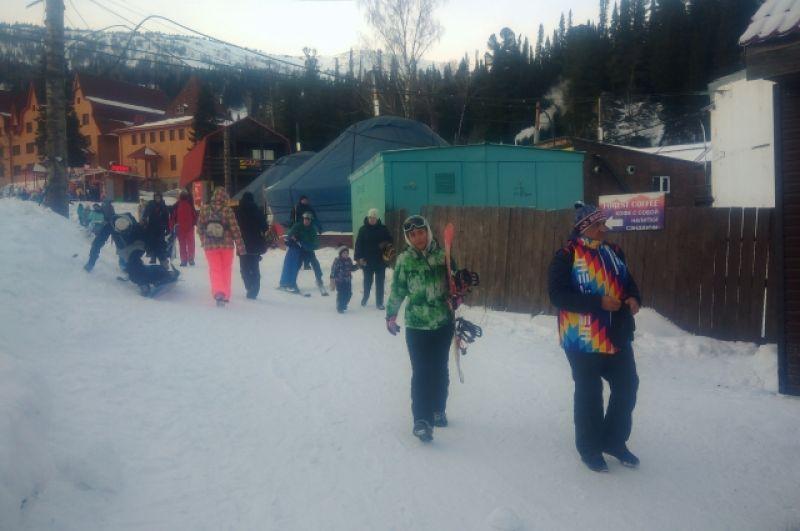 «Шерегеш» первым в России открыл горнолыжный сезон.