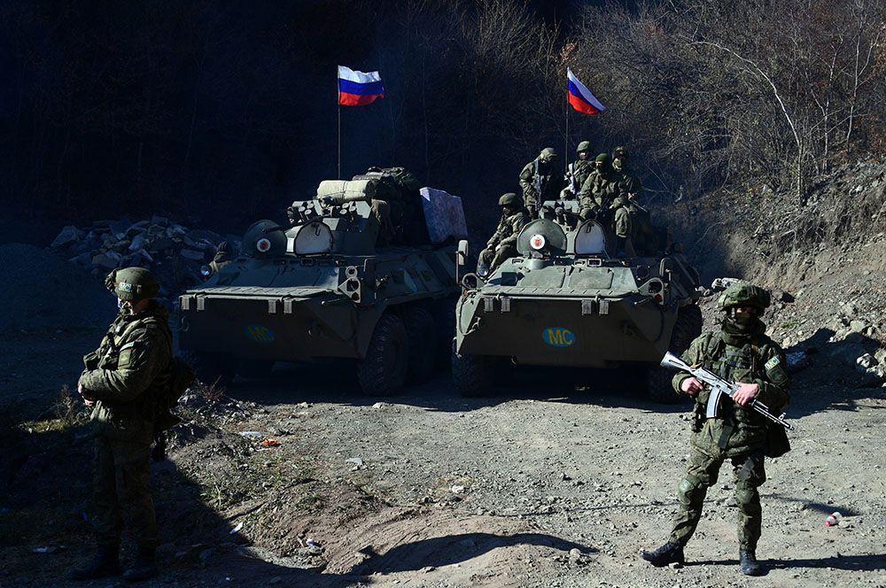 Российские миротворцы в Нагорном Карабахе.