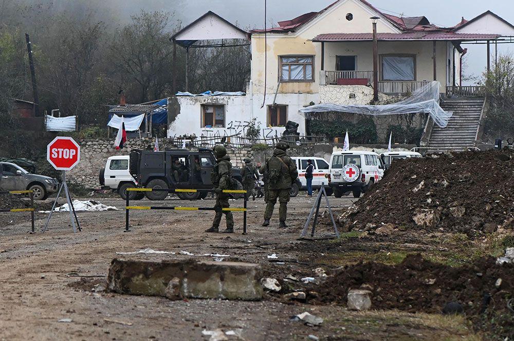 Контрольно-пропускной пункт в Нагорном Карабахе.
