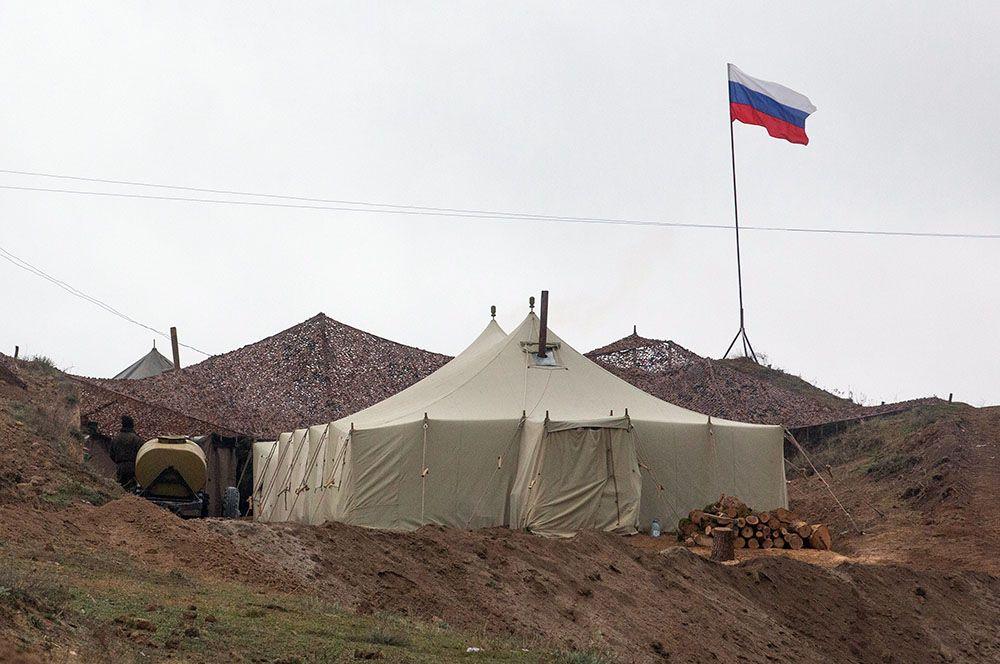 База российских миротворцев в Нагорном Карабахе.