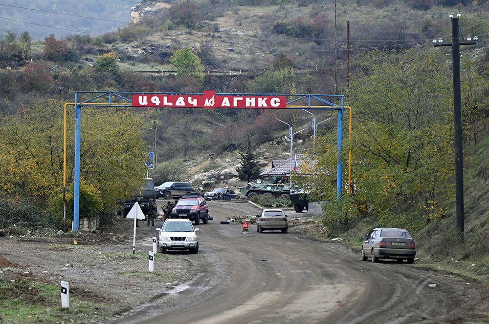 КПП в городе Шуша в Карабахе.