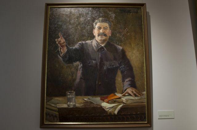 Портрет Александра Герасимова, который был любимым художником Сталина. Его портреты при жизни вождя считались каноническими.
