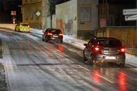 Украинских водителей предупредили о гололеде на дорогах