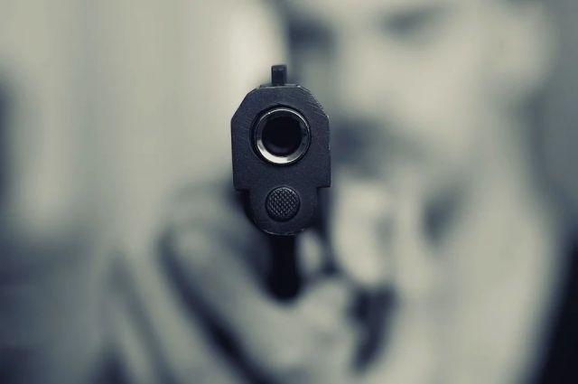 Северянин выстрел, чистя ружье