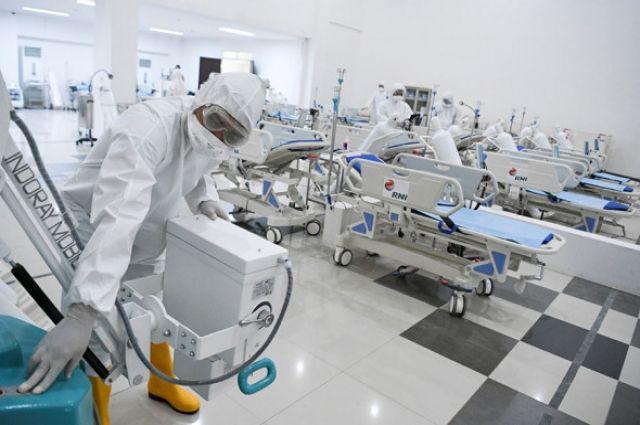 В Запорожье разворачивают дополнительные места для пациентов с COVID-19.