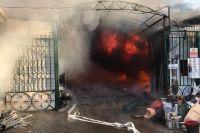 32 торговые палатки полностью сгорели