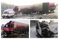 На тюменской трассе в ДТП с грузовиками погиб водитель автомобиля Ford