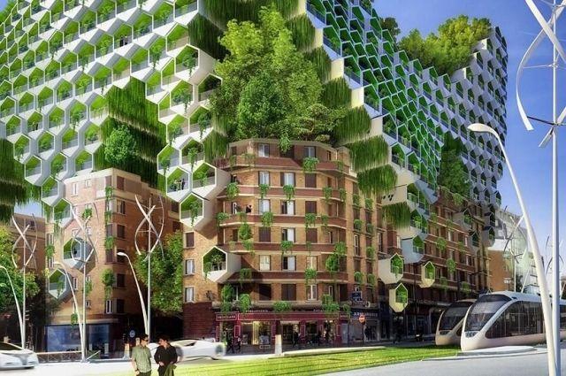 Сейчас во всём мире всё большей популярностью пользуются проекты домов, полностью покрытых зеленью.