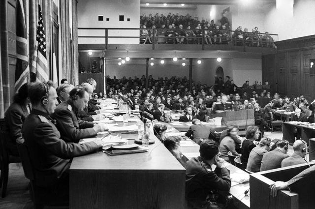 Заседание Международного военного трибунала, Нюрнбергский процесс.