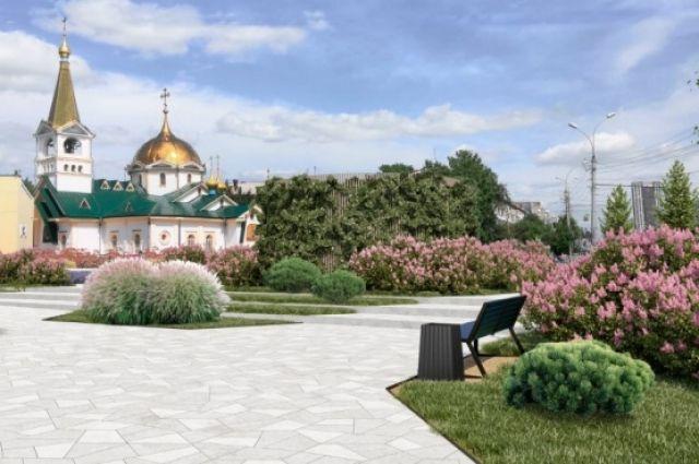 Мэрия Новосибирска показала проект реконструкции Нарымского сквера и площади около цирка.