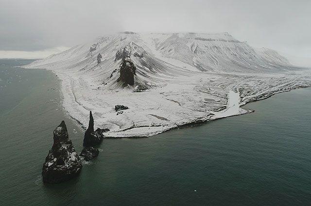 Мыс Тегтгоф острова Галля архипелага Земля Франца-Иосифа.