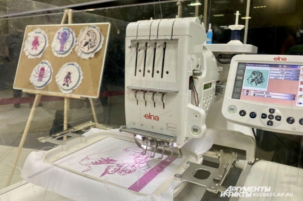Помимо бытовых, есть промышленные роботы. Такие, как швея на фото - она работает в 60 раз быстрее человека и способна вышить любой рисунок по заданной программе.