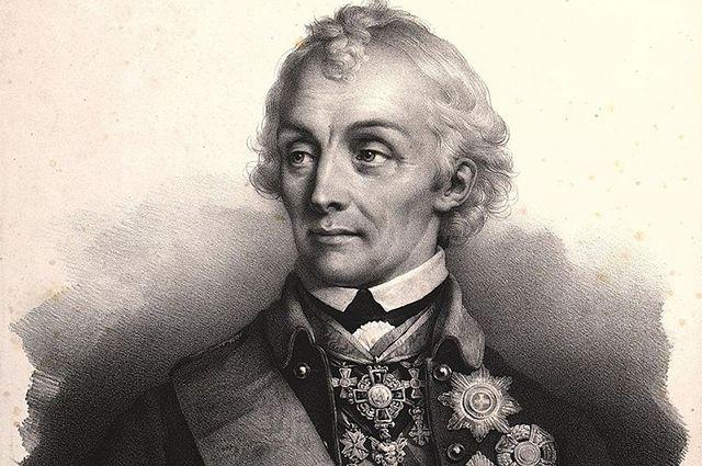 Полководец А. В. Суворов. Литография, 1828 г.