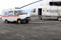 В ЦДХ Оренбурга вертолетом санавиации доставили подростка с переломами ног и ушибом позвоночника.