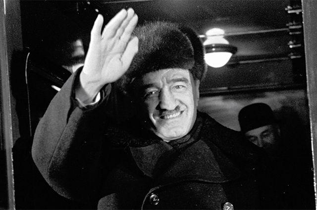 Председатель Президиума Верховного Совета СССР Анастас Иванович Микоян уезжает из Москвы в Финляндию с неофициальным визитом. 1964 год.