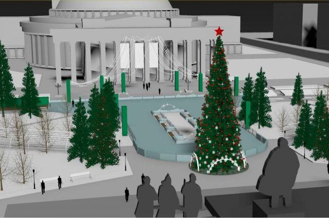 Мэрия Новосибирска опубликовала проект главного катка перед Оперным театром. Как и в прошлом году, каток планируют сделать необычной формы, из-за которой он прославился на всю Россию.
