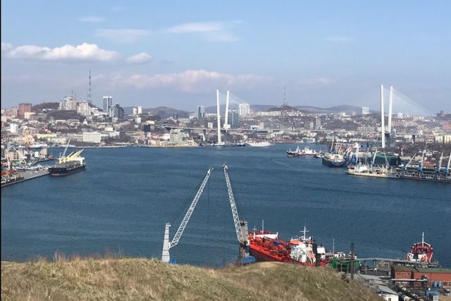 С Крестовой сопки отличный вид на Владивосток.