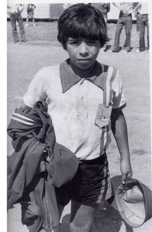 Диего Марадона в 1970 году.