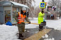 На расчистку Оренбурга от снега в целом направлена 41 единица спецтехники.