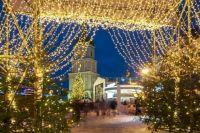 В Киеве началась установка главной елки Украины