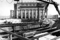 Станция «Московская» строилась открытым способом.