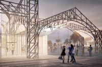 Исторические конструкции на Стрелке, согласно проекту, станут общественным пространством.
