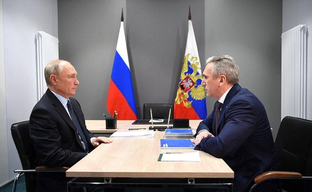 Встреча с губернатором Тюменской области Александром Моором