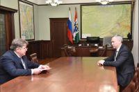 В ходе рабочей встречи Евгений Шестернин доложил о развитии города за последние 5 лет.