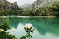 Озеро Панагия в Зеленогорье до засухи в Крыму.