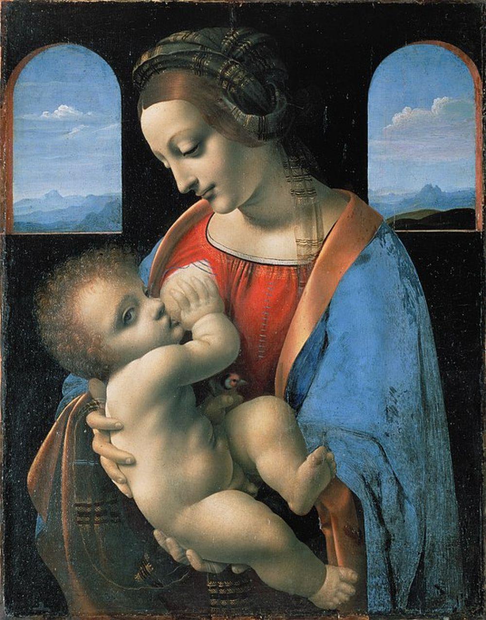 Леонардо да Винчи. Мадонна Литта. 1490-1491