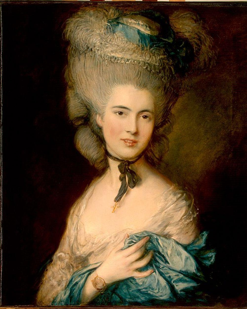 Томас Гейнсборо. Портрет дамы в голубом. Конец 1770 - начало 1780-х годов