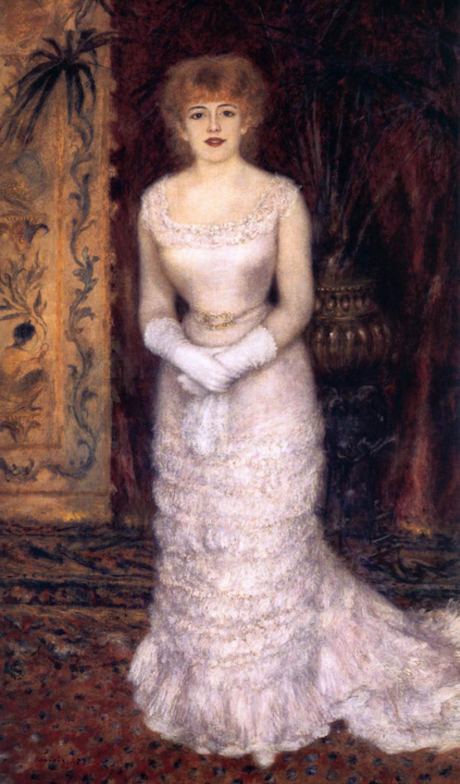 Пьер Огюст Ренуар. Портрет актрисы Жанны Самари. 1878 год