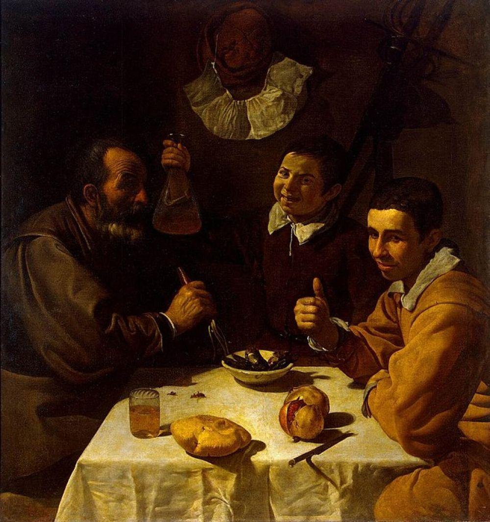 Диего Веласкес. Завтрак. Около 1617 года