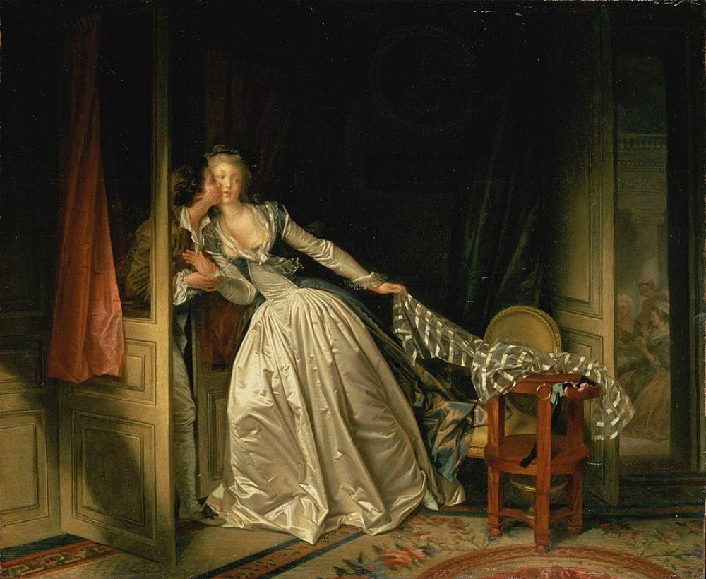 Жан-Оноре Фрагонар. Поцелуй украдкой. Конец 1780-х годов
