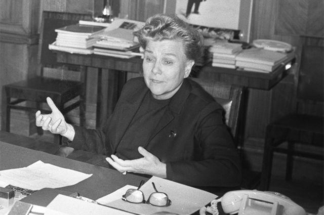 Екатерина Фурцева. 1973 год.