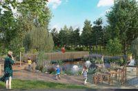 В сквере Юдина также появятся места для тихого отдыха и площадка для выгула собак.