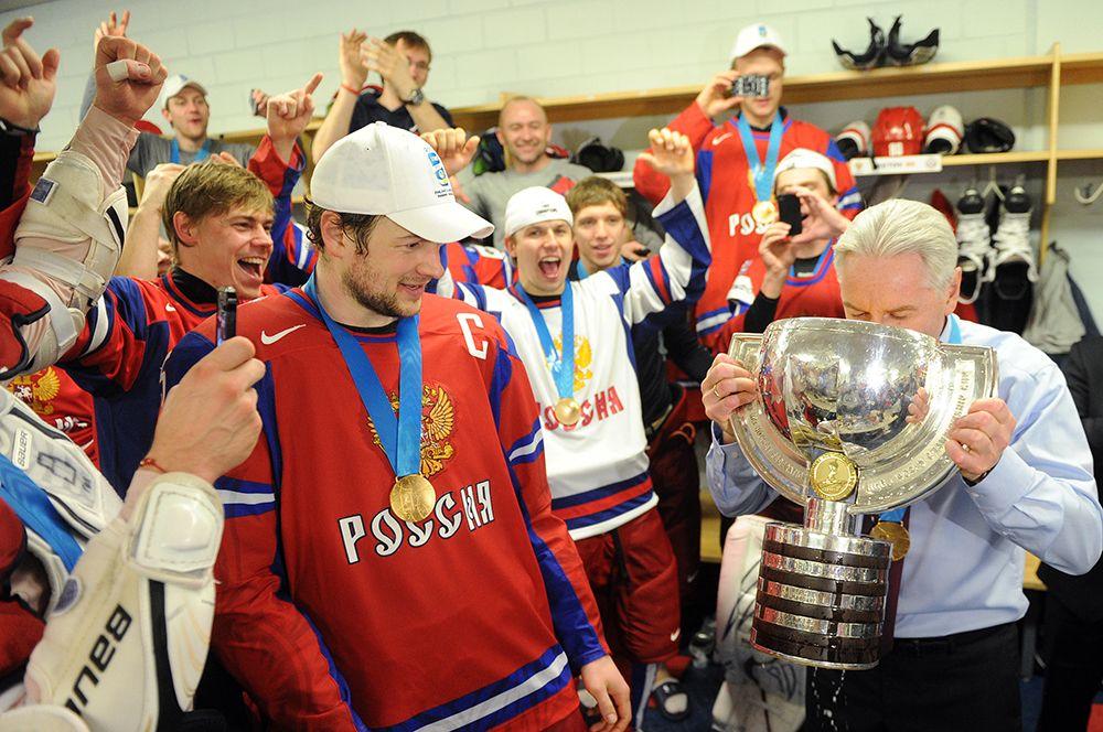 Победа сборной России на чемпионате мира по хоккею в 2012 году.
