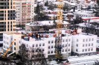 Все три этажа детского сада на Московском тракте в Тюмени смонтированы