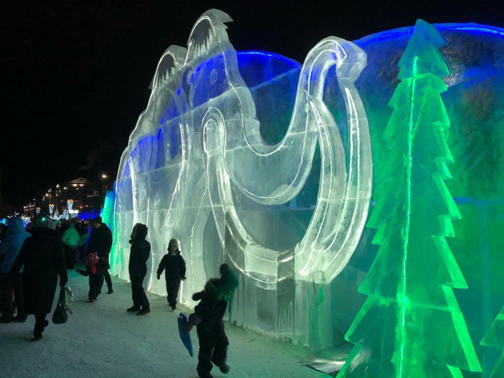 Открытие ледового городка в Салехарде