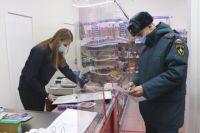Сотрулники МЧС проверили магазины, торгующие пиротехникой.