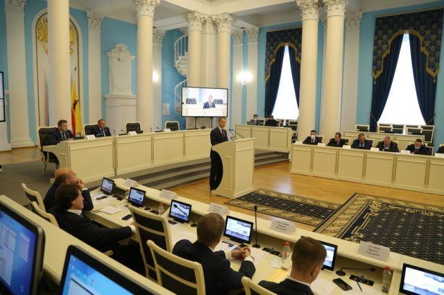 Аркадия Фомина вновь выбрали председателем областной Думы.