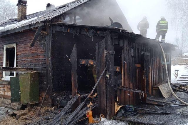 Общая площадь пожара составила 48 кв. м.