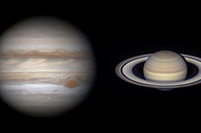 Редкое космическое явление могут увидеть 21 декабря жители Новосибирской области  — «двойную планету». В небе «соединятся» Юпитер и Сатурн.