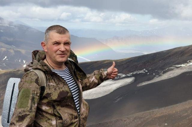 Врач побывал на Авачинском вулкане на Камчатке.