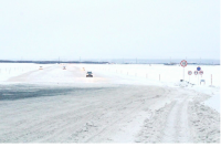 На ледовой переправе Салехард – Лабытнанги повышена грузоподъемность
