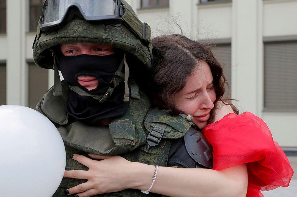 Протесты после президентских выборов в Белоруссии.