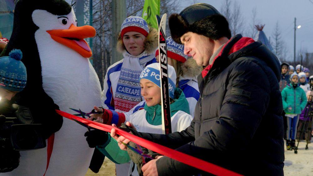 Открытие лыжной базы в Салехарде
