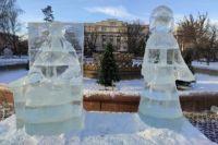 В Оренбурге главное новогоднее пространство создают между площадью Ленина и сквером возле Дома Советов.