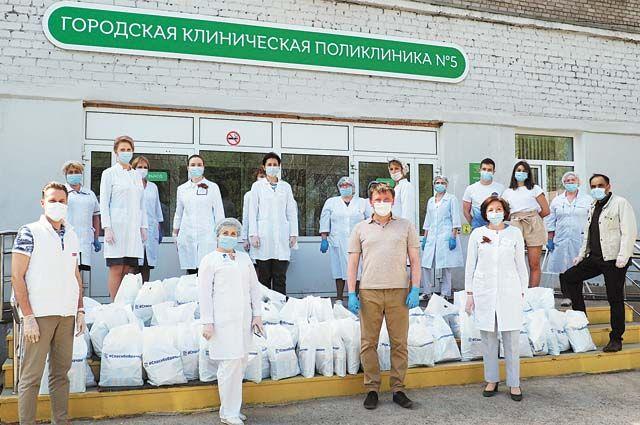 Акция «Спасибо врачам» проходит в крае с начала пандемии.